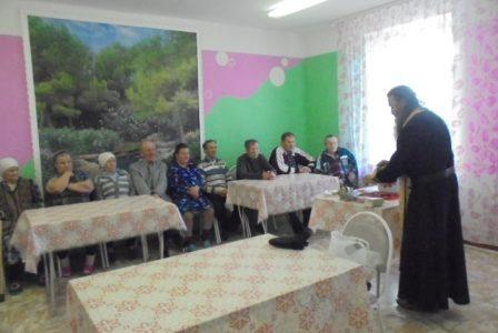 Посещение православных верующих в социально-реабилитационном отделении